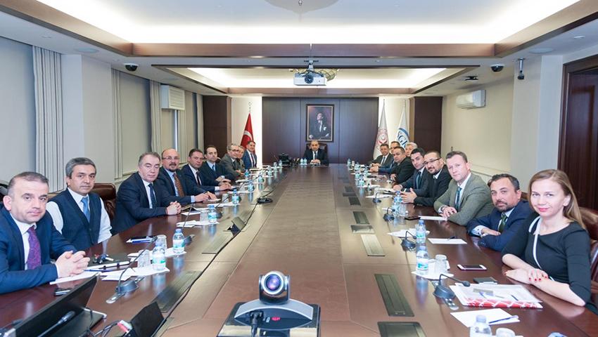 SGK Başkanı Sn. İsmail YILMAZ' a Türkiye Seramik Federasyonu' ndan Ziyaret