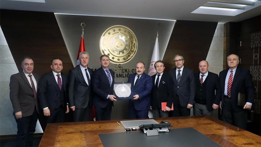 Sanayi ve Teknoloji Bakanı Sn. Mustafa Varank' a Türkiye Seramik Federasyonu' ndan Ziyaret