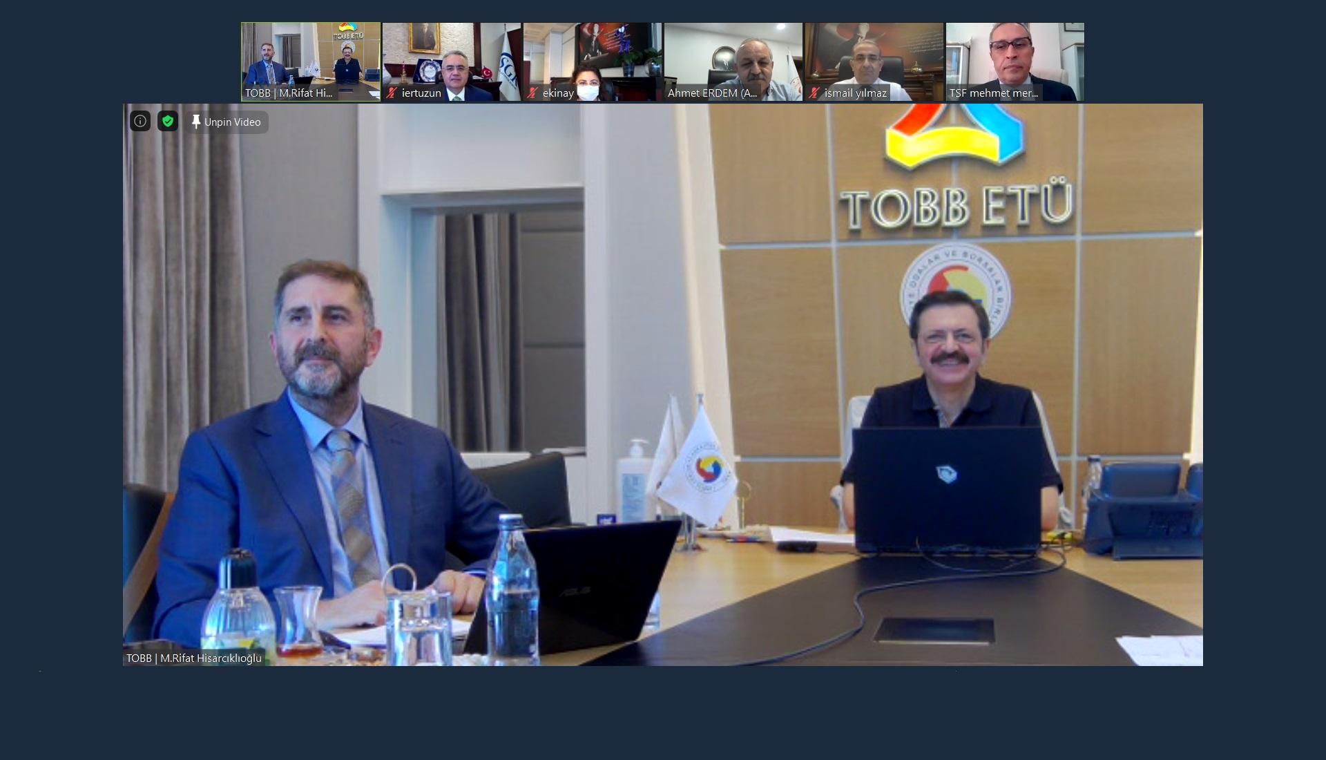 A.Ç.S.H.B, Sağlık Bakanlığı ve TOBB ile Online Toplantı